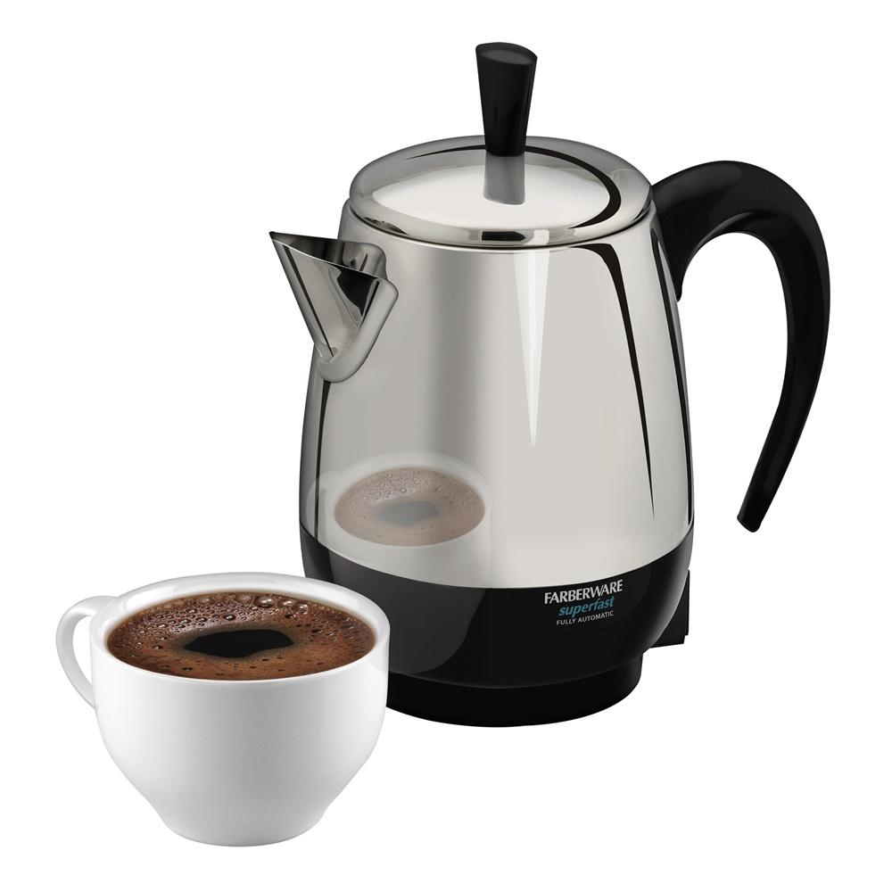 Small Percolator 4-Cup Percolator Farberware Stainless Steel Percolator FCP240