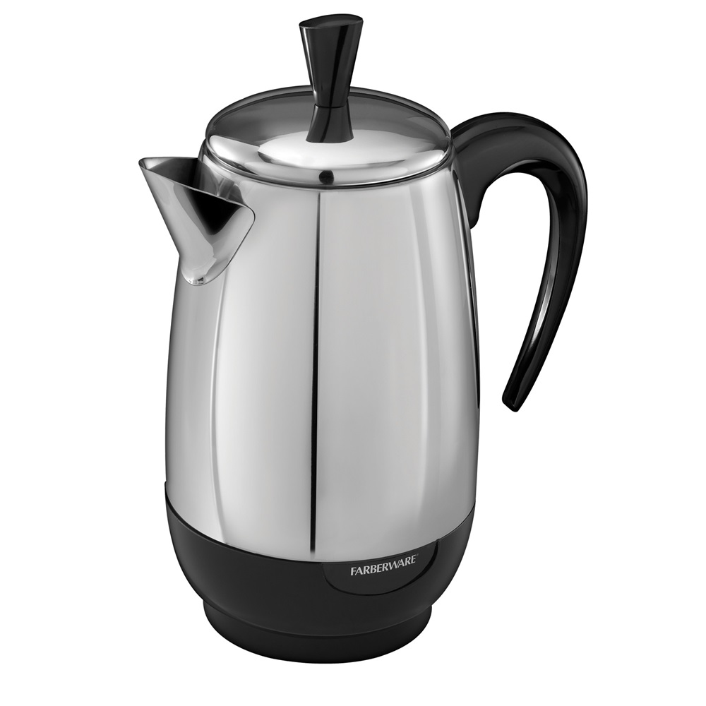 Coffee Maker With Percolator : Electric Coffee Percolator 8-Cup Percolator Farberware Stainless Steel Percolator FCP280