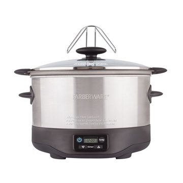 6 Qt Oval Slow Cooker Farberware