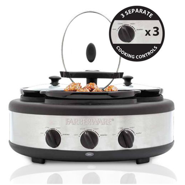 Farberware Coffee Maker Guide : 3 Crock 1.5 Qt Oval Slow Cooker Farberware